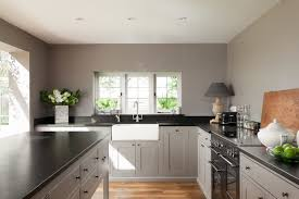 gray cabinets with black countertops mid kent holiday home farmhouse kitchen kent by ryan wicks