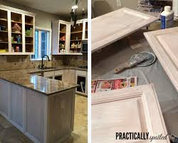 how to paint stained kitchen cabinets white from to great a tale of painting oak cabinets
