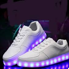 shoes with lights on the bottom 2015 women glowing sneakers white canvas shoes light led men sports
