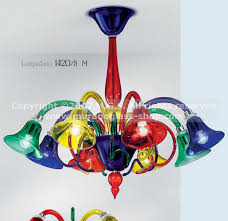 Colored Chandelier Multi Colored Chandeliers Made In Murano Glass Murano Glass Shop