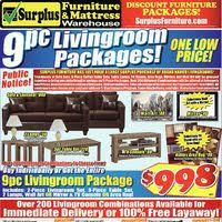 surplus furniture flyer kitchener on redflagdeals com