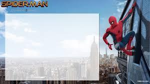 free printable spiderman homecoming birthday invitation template