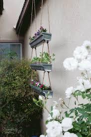 diy rustic industrial hanging planter domestically speaking