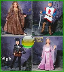 Halloween Costume Patterns Babies Simplicity 5520 Childrens Knight Princess Medieval Costume