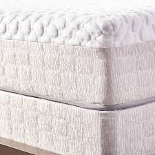 natures rest firm talalay 10 inch queen size latex mattress set