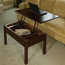 outstanding modern lift up coffee table with wooden varnishing