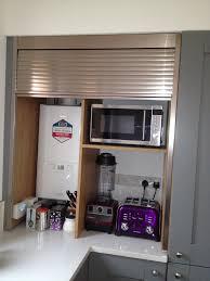 appliance garage with tambour door rashmi pinterest