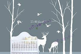Wall Tree Decals For Nursery Deer Tree Decal Tree Deer Wall Decal Wall Vinyl Deer