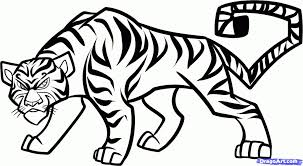 how to draw a tiger how to draw a cool tiger tiger in jungle