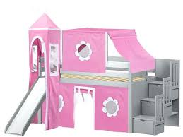 Princess Bunk Bed With Slide Maxtrix Princess Castle Loft Bed With Slide Bed With Slide