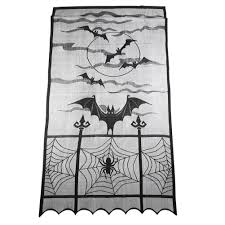 aliexpress com buy black lace halloween curtain tulle sheer bat