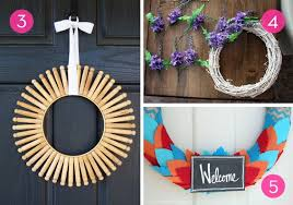 diy wreaths roundup 10 colorful diy summer wreaths curbly