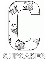 cupcake coloring pages to print letter c full of cupcake coloring page netart