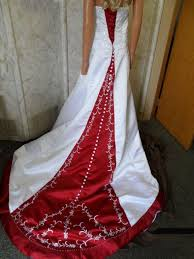 Red And Silver Wedding Colorful Bridal Gowns Color Accents Bridal Gown