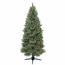 general foam 7 ft pre lit slender spruce artificial