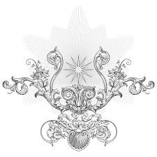 sun ornament vector stock vector image of engraving ornate 5443988