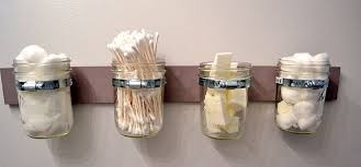Bathroom Glass Storage Jars Best 35 Diy Easy And Cheap Jar Projects
