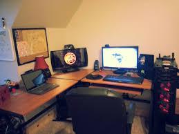 desk l shaped gaming desk intended for amazing best gaming desks