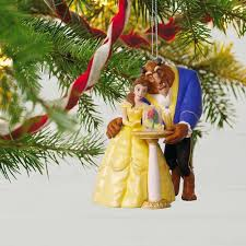 disney and the beast tale as as time ornament with