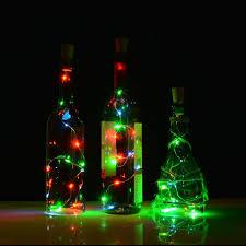 amazon com cork bottle lights for wine bottles 3 pack agptek