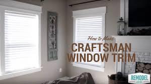 how to make craftsman window trim youtube