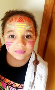 aztec face painting tribal face painting can be used for adults