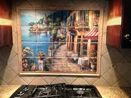 mural tiles for kitchen backsplash tile mural backsplash kitchen design tropical tile murals kitchen