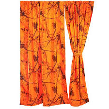 Realtree Shower Curtain Realtree Blaze Shower Curtain Orange Camo
