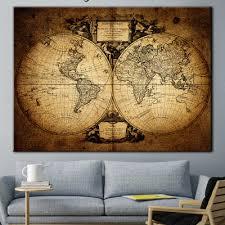 Antique map World Map Old World Map Wall Art World Map Print