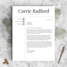 Recommended Font For Resume Classic Professional Resume Template The Carrie U2013 Landed Design