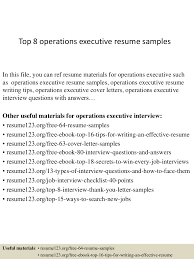 Resume Format For Operations Profile Top8operationsexecutiveresumesamples 150402024538 Conversion Gate01 Thumbnail 4 Jpg Cb U003d1427960782