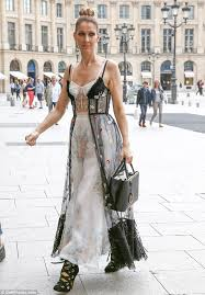 selin dion celine dion 49 enjoys another sartorially astute display daily