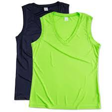 custom sport tek ladies competitor performance sleeveless shirt