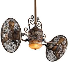 antique reproduction ceiling fans traditional gyro twin ceiling fan in belcaro walnut finish house