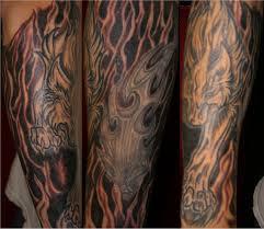 wolf half sleeve by mindfreak9 on deviantart