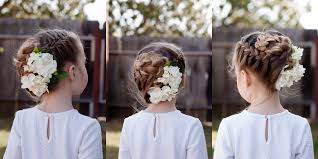 flower girl hair braids with flowers hairstyles