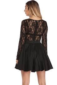 talia black lace party dress