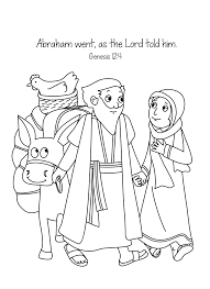 abram sarai leaving egypt coloring page at abraham coloring pages