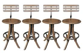 Black Bar Stools With Back Furniture Brown Wooden Bar Stool With Back Using Black Iron Ring