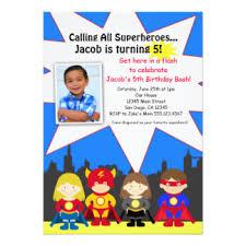 superhero birthday invitations u0026 announcements zazzle