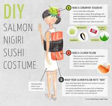 diy sushi costume tamiko young graphic design halloween fun