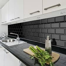 bevelled brick black 10x20 cm ceramic wall tile by fabresa