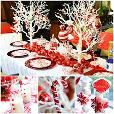 Winter Party Decor - candy cane winter wonderland party ideas supplies decor