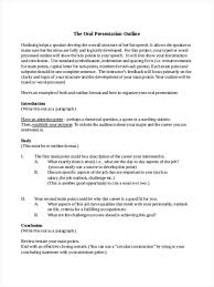 how to write paper outline 34 outline examples in word oral presentation outline