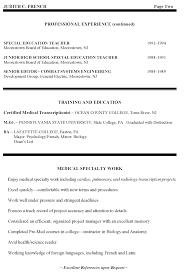 exle resume education high school special education resume high school special