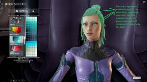 the color of the eyebrows and the hair of the operator art