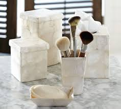 Shell Bathroom Accessories by Capiz Bath Accessories Pottery Barn