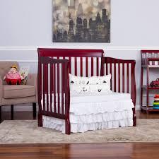 Mini Crib Bed Skirt by Dream On Me Aden Convertible 4 In 1 Mini Crib Cherry Toys