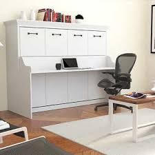 Bed And Computer Desk Combo Melbourne Full Wall Bed W Desk Combo White