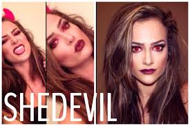 simple shedevil makeup tutorial youtube